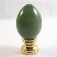 Lamp Finial: Green Jade Egg