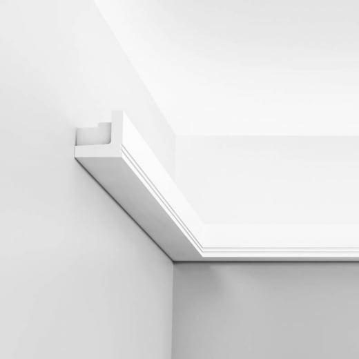 stripe cornice moulding for indirect lighting