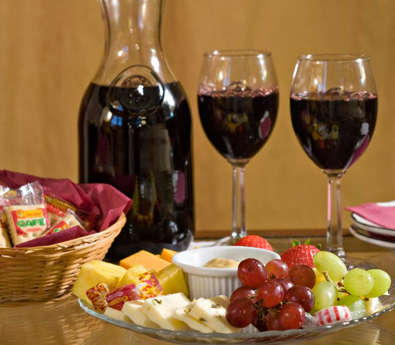 Wine and Cheese Platter at Lamplight Inn Bed & Breakfast near Saratoga Springs