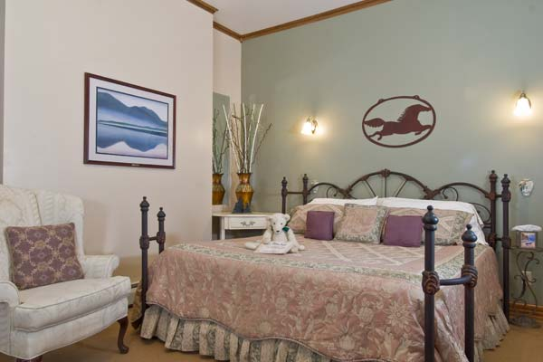 Pastel Decorated Guest Room