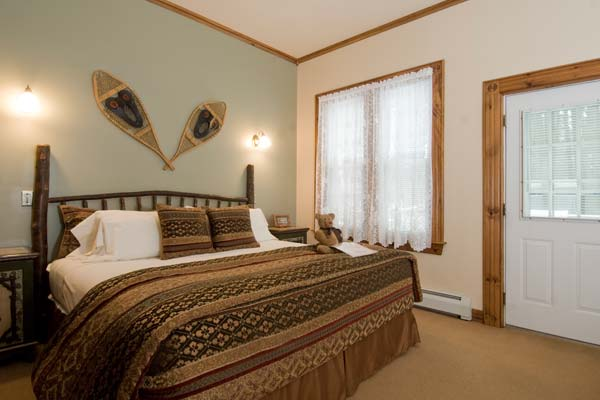 Guest Room decorated in Adirondack style