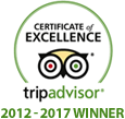 Trip Advisor 2012 - 2017 Award Winner