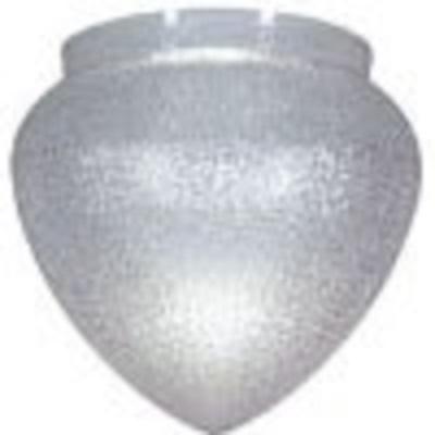 Textured Clear Acrylic Teardrop Lamp Post Globe with 8