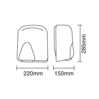 Eterna HDA-1800 1.8kW High Performance Auto Hand Dryer