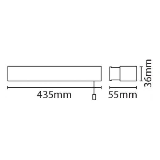 Eterna OMLED10 10 watt LED Over Mirror Light With Pull Switch