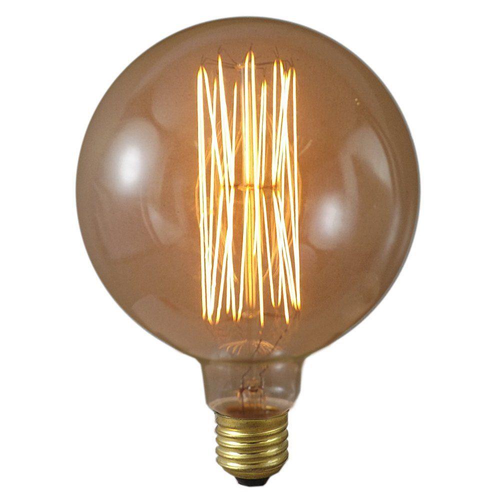 40 watt ESE27 125mm Gold Tinted 125mm Antique Globe Lamp