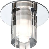 IP65 Rated Low Voltage Decorative Round Glass Bathroom Fitting