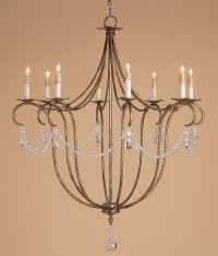 Currey and Company 9881 Crystal Lights Eight Light Chandelier