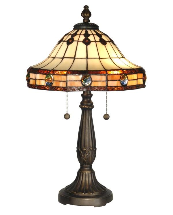 Dale Tiffany Tt10034 Crystal Jeweled Table Lamp