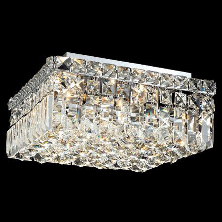 Elegant Lighting 2032f12c Ec Crystal Maxime Square Flush