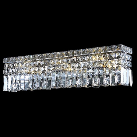 kitchen lighting fixtures ceiling reface depot elegant 2032w26c/ec crystal maxime 26 in. vanity ...
