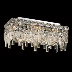 Kitchen Light Fixtures Flush Mount Aid Cabinets Elegant Lighting 2035f16c/ec Crystal Maxime Rectangular ...
