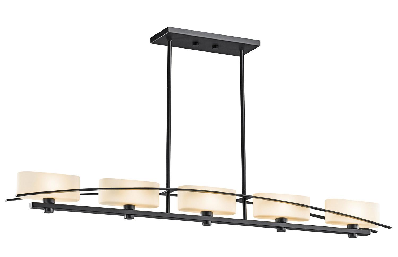kichler kitchen lighting drainer basket 42018bk suspension island light