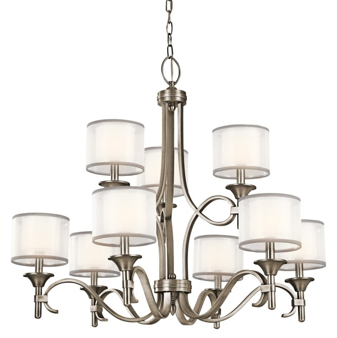 Kichler 42382ap Lacey Nine Light Chandelier
