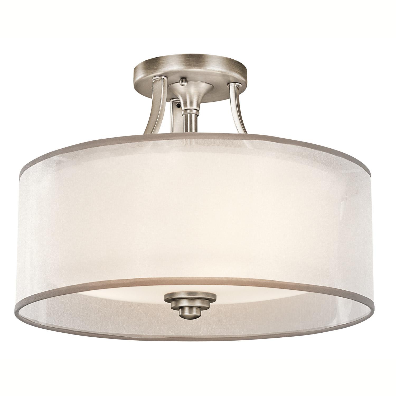 kichler kitchen lighting under cabinet options 42386ap lacey semi flush ceiling fixture