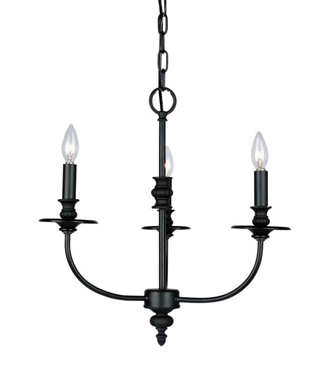 Elk Lighting 283 Ob Hartford Three Light Mini Chandelier