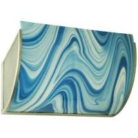 Meyda 135523 Metro Fusion Ocean Waves Glass Wall Sconce
