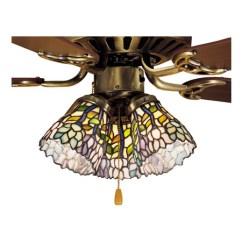 Kitchen Ceiling Lighting Fixtures Cabinets Modern Meyda 27476 Tiffany Wisteria Fan Light Shade