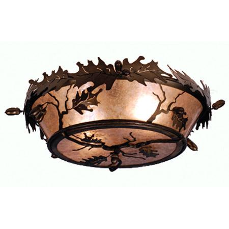 Meyda 82070 Acorn  Oak Leaf Flush Mount Ceiling Fixture