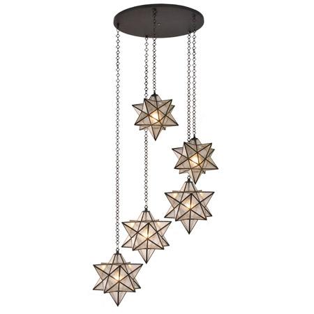rustic pendant lighting kitchen round pedestal table meyda 99178 moravian star multi ceiling fixture