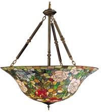 Meyda 26554 Tiffany Rosebush Inverted Hanging Lamp