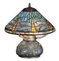 Meyda 27159 Tiffany Dragonfly Mosaic Accent Lamp
