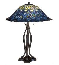 Meyda 28504 Tiffany Peacock Feather Table Lamp
