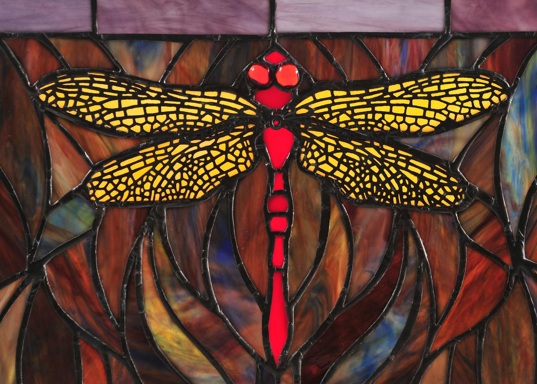 Meyda 48091 Tiffany Dragonfly Trio Stained Glass Window