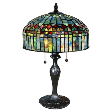 Paul Sahlin Tiffany 1238 Tiffany Cathedral Table Lamp
