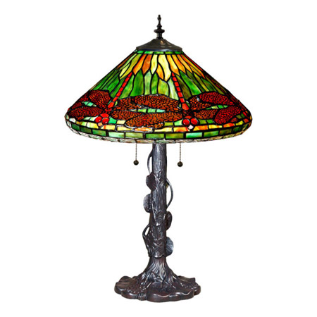 contemporary kitchen light fixtures solid wood shaker cabinets paul sahlin tiffany 423 dragonfly table lamp