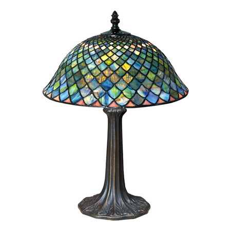 island tables for kitchen durable flooring paul sahlin tiffany 955 fishscale table lamp
