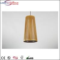 Indoor Modern Handwoven Wooden Shade Pendant Lamp/Hanging ...