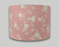 Carnival Rose Pink Floral Drum Lampshade - THE LAMPSHADE BARN