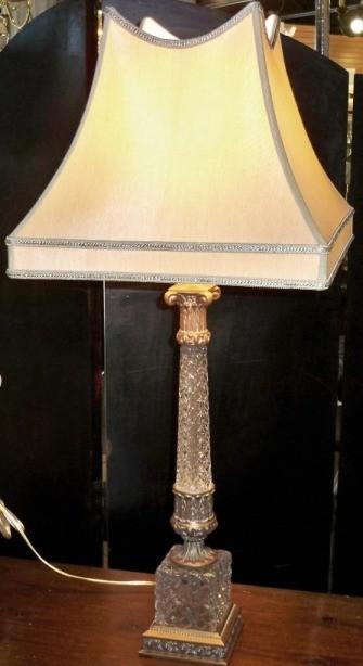 Antique Crystal Lamp Silk Shade  Lamp Shade Pro