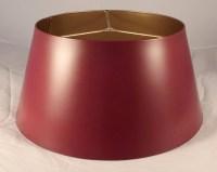 Satin Burgundy Metal Bouillotte Lamp Shade Gold Inside