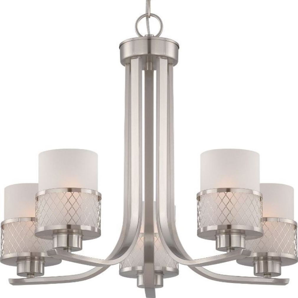 Wiring A Kitchen Light Fixture Fusion Brushed Nickel Drum Shade Chandelier 22 Quot Wx20 Quot H