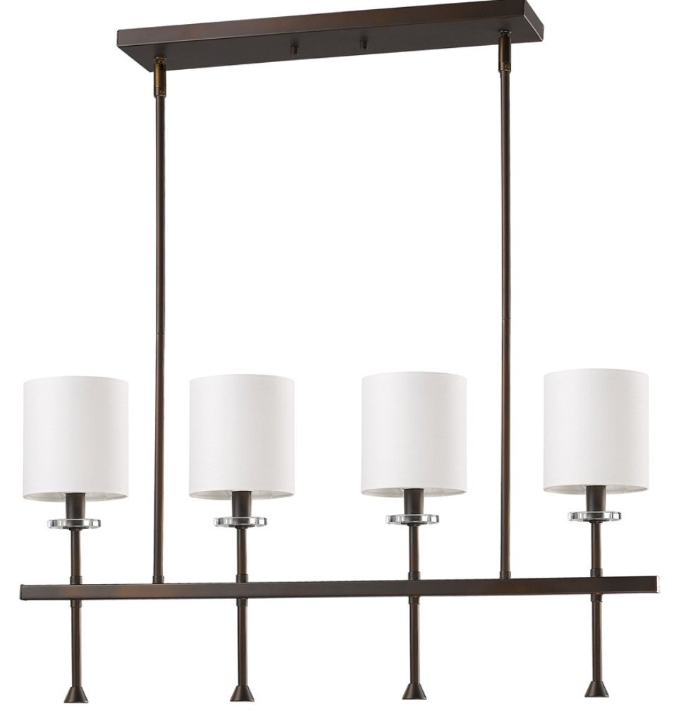 Home Wiring Colors Brown Shades Kara Oil Rubbed Bronze Drum Shade Island Light 32 Quot Lx5 Quot W