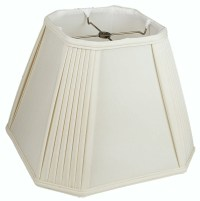 Pleated Corners Silk Square Lamp Shade | Lamp Shade Pro
