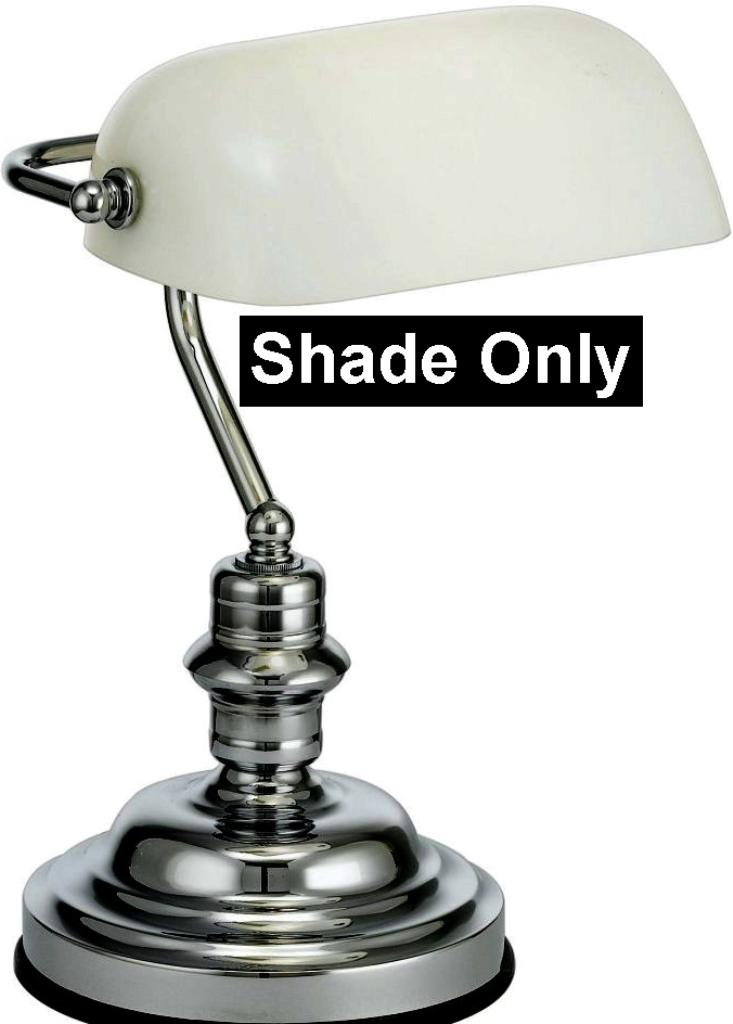 White Glass Bankers or Pharmacy Lamp Shade  Lamp Shade Pro