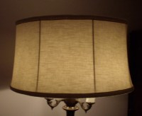 Large Floor Lamp Drum Shade Restored