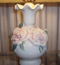Sweetheart Antique Lamp, Restored Silk Shade