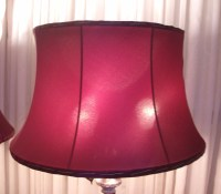 Vintage Valance Burgundy Silk Bell Lampshades Restored ...