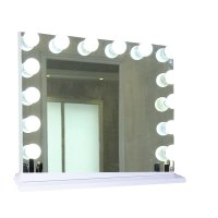 Hollywood lighted vanity mirror, large makeup mirror with ...