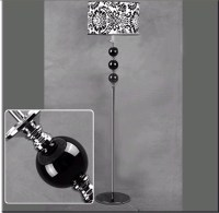 Wholesale Antique Floral Printed Floor Lamp, Black and ...