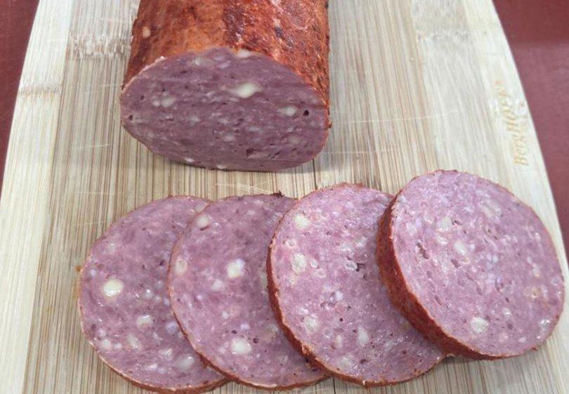lams grillworst met kaas