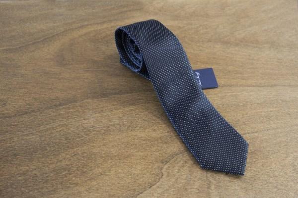 Cravatta a pois fondo nero mod. 005
