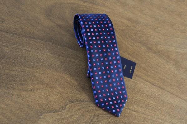 Cravatta fantasia fondo blu mod. 136