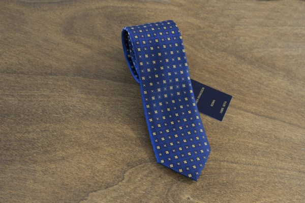 Cravatta fantasia fondo blu mod. 138