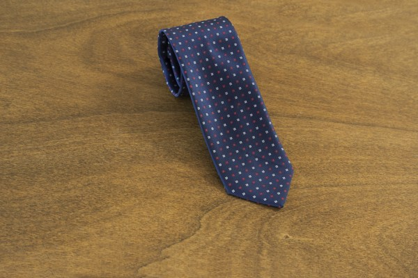 Cravatta fantasia fondo blu mod. 160