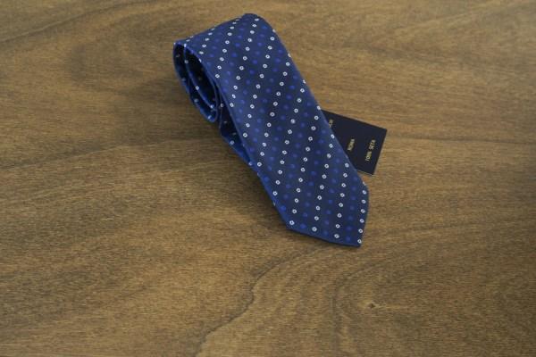 Cravatta fantasia fondo blu mod. 176
